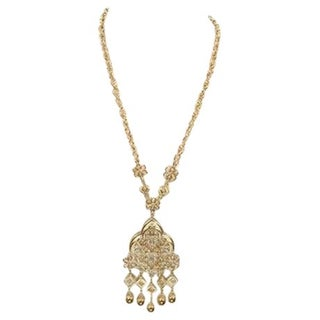 Vintage Trifari Flower Link Tassel Necklace