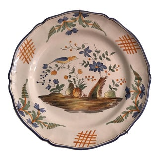 Ceramic French Faience Wall Platter