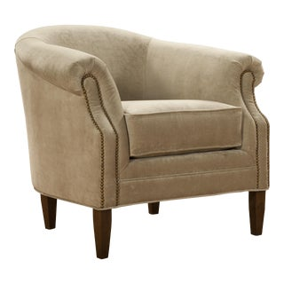 Elite Leather Velvet Club Chair