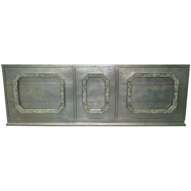 Silver Leaf Dresser in the style of James Mont - Image 3 of 8