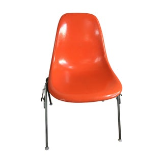 Herman Miller Orange Fiberglass Chairs - Set of 4