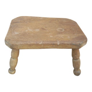 Primitive Turned Leg Stool