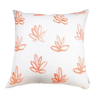 "Red Agave Linen Pillow - 24"" X 24"""