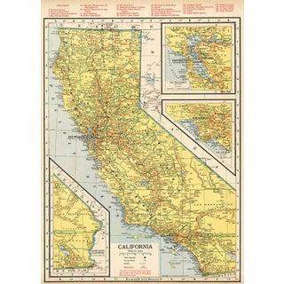 Vintage 1942 California Railroad Map
