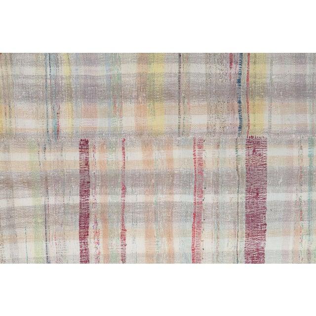 Vintage Turkish Multi-Color Hand Made Flatweave Rug - 5′9″ × 8′ - Image 4 of 4