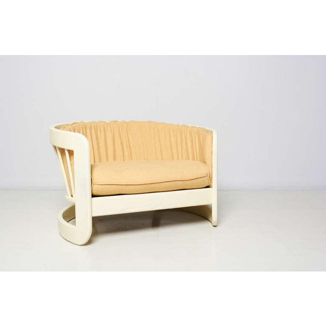 Image of Milo Baughman Style White Lacquer Lounge Chair