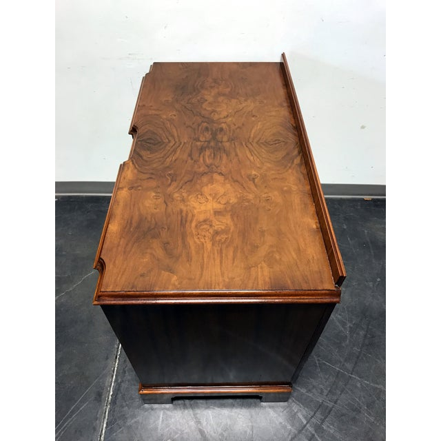 Early 20th Century Burl Walnut Block Front Bachelor Chest of Drawers - Image 8 of 11