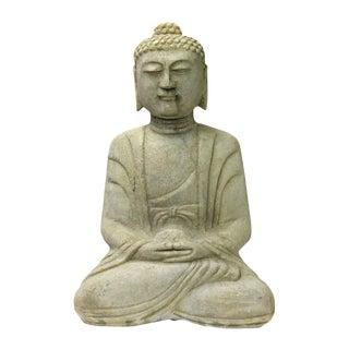 Chinese Off White Stone Buddha