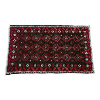 Vintage Persian Carpet Rug - 3′9″ × 6′4″