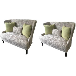 Gray / Taupe Loveseats - a Pair