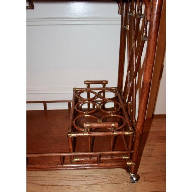 Golden Rattan Bar Cart - Image 6 of 10