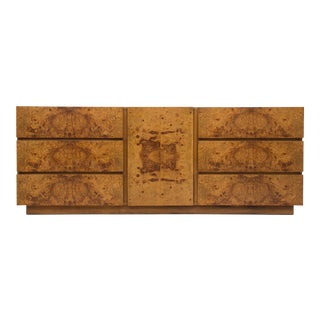 Olive Burl Wood Credenza or Dresser by Milo Baughman for Lane
