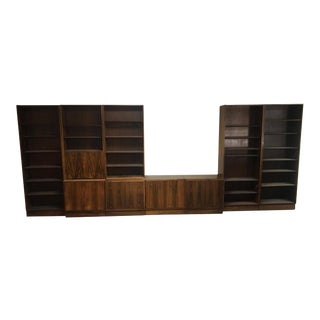 Carlo Jensen for Hundevad & Co. Mid-Century Danish Modern Modular Wall Shelving - 9 Pieces