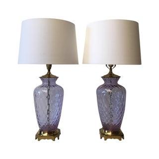 Paul Hanson Italian Optic Glass Lamps - A Pair