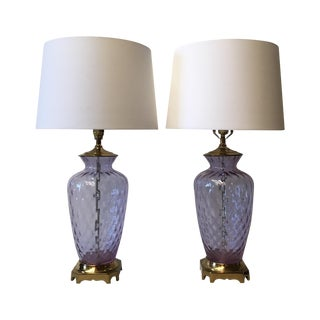 Paul Hanson Italian Optic Glass Lamps - A Pair