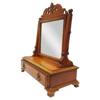 Wood Shaving Stand, Mens Valet With Tilting Mirror