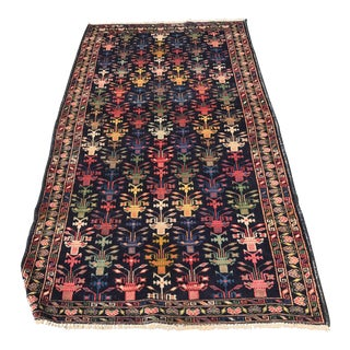 Vintage Colorful Persian Baluchi Rug - 3'x6'6""