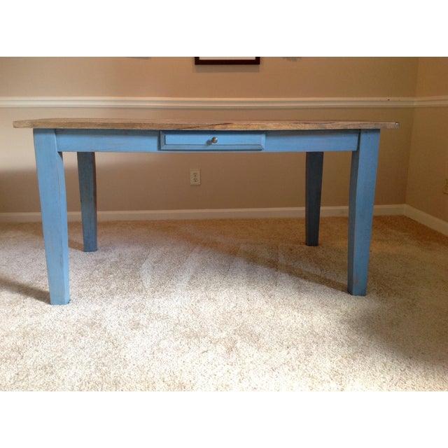 Blue Farmhouse Table - Image 3 of 8