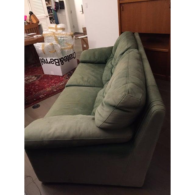 Roche Bobois Green Leather Sofa - Image 7 of 7