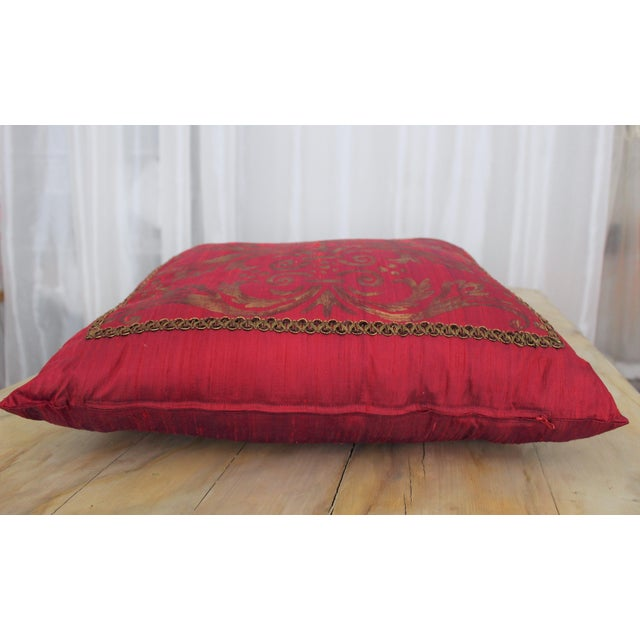 Isabelle H. Fortuny Style Hand-Painted Cherry Pillow Cover - Image 3 of 8