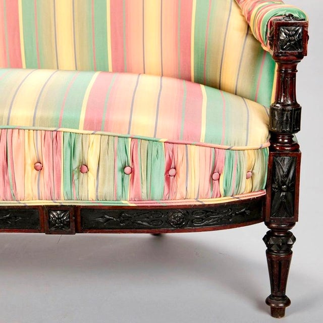 19th Century Spanish Sofa With Turned and Carved Frame - Image 7 of 10