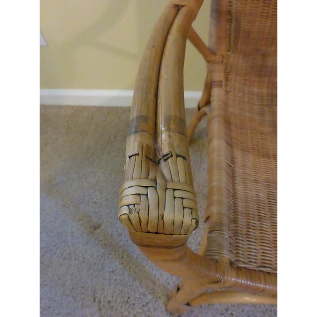Vintage Rattan & Bamboo Chair - Image 8 of 8