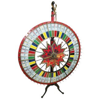 H.C. Evans Jumbo Wheel of Fortune on Stand