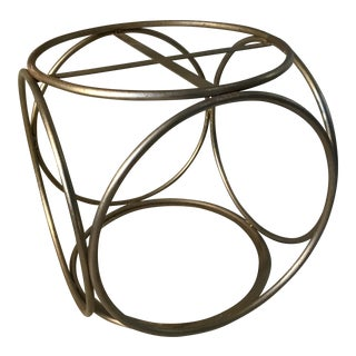 Thonet Mid-Century Brass Foot Stool