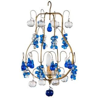 Vintage Blue Murano Chandelier