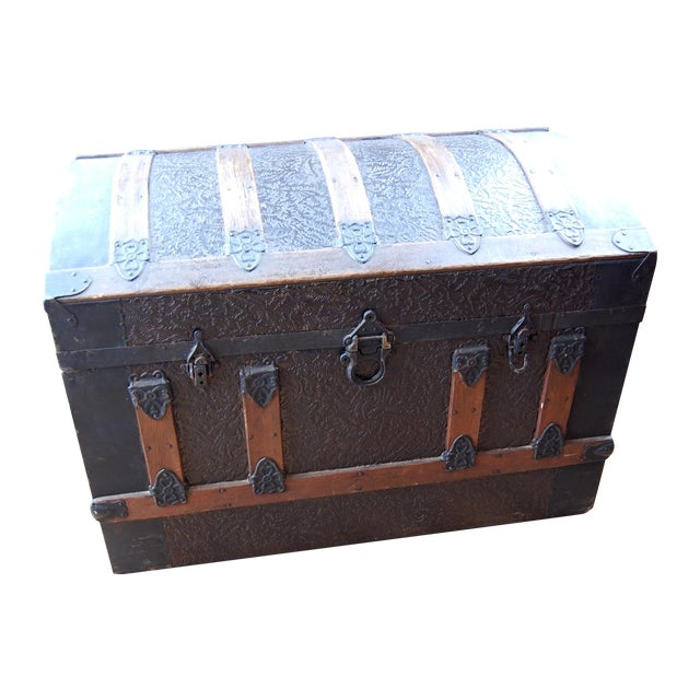 Antique 1800's Trunk - Image 1 of 7