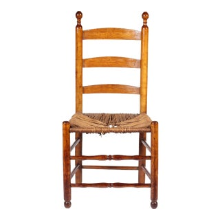 1750 Antique New England Slat-Back Chair