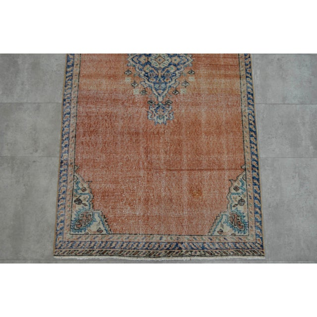 "Turkish Brown Overdyed Hand Knotted Rug - 3'4"" X 6'7"" - Image 7 of 9"