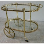 Image of Vintage Regency Brass & Glass Server