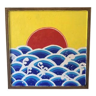 'Red Sun' Original Painting