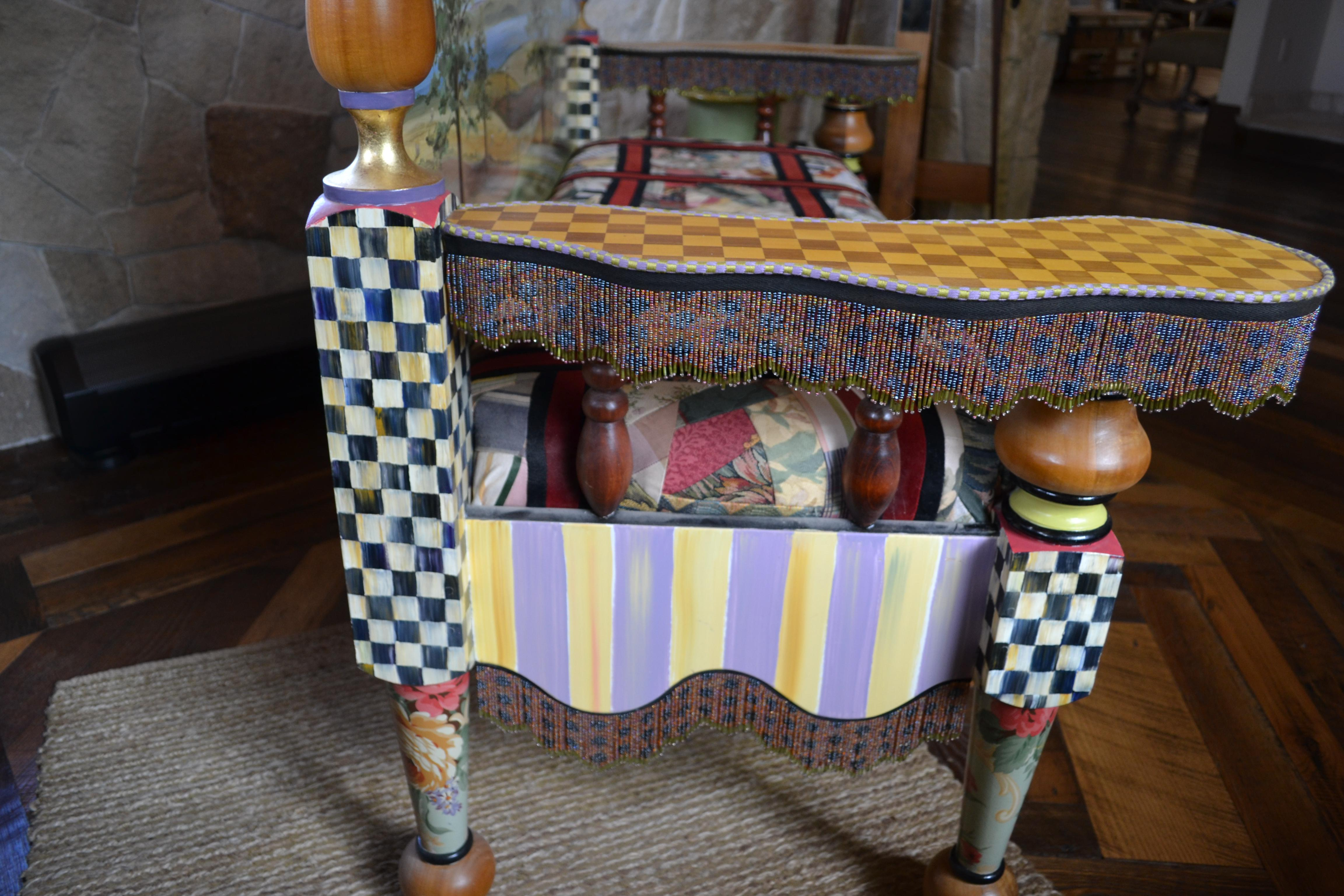 Mackenzie Childs Furniture Collection Sitting Bench Chairish