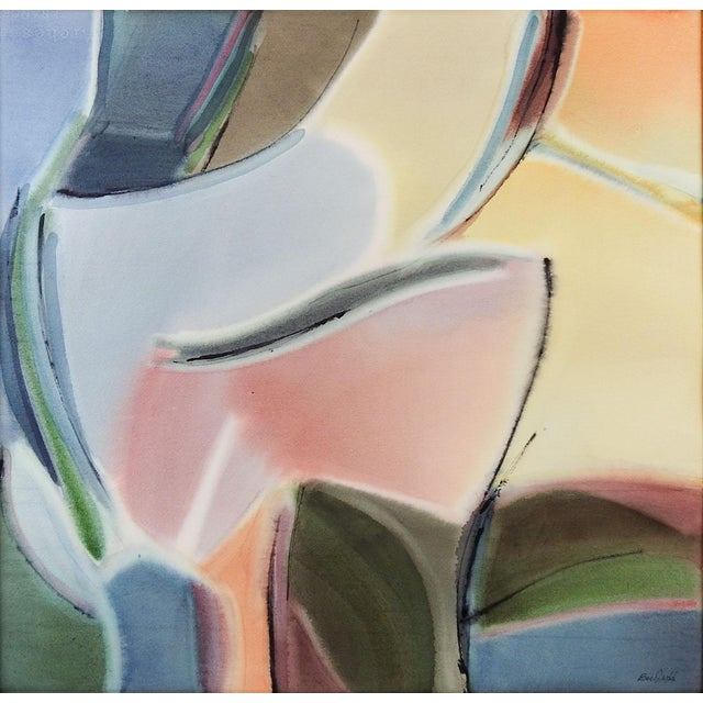 Bee Judd Abstract Watercolor Painting - Image 1 of 3