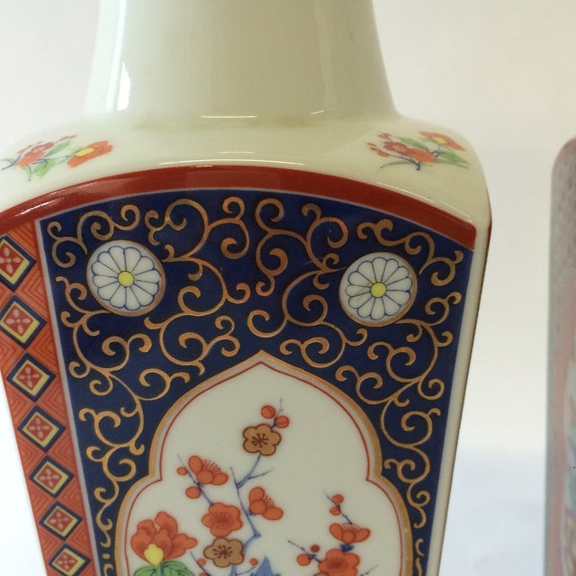 Chinoiserie Style Square Vases - A Pair - Image 8 of 10