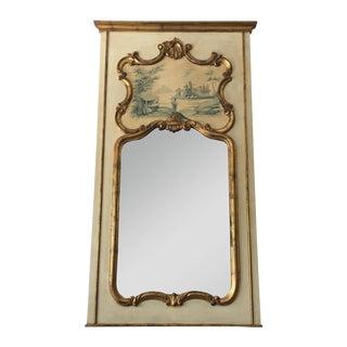 Hand Painted Italian Rococo Gilded Mirror