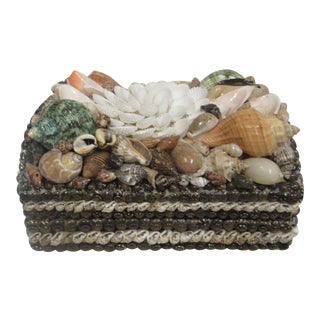 Vintage Shell Encrusted Dome Box