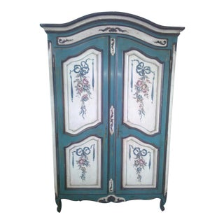 Country Style Hand Painted Armoire