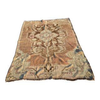 "Antique Turkish Oushak Area Rug - 5'7"" x 13'5"""