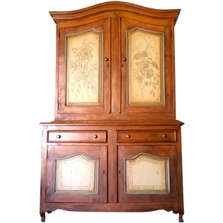 Antique Armoire with Hand Painted Doors