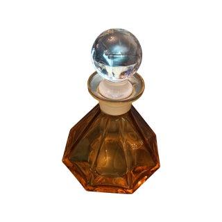 Vintage Amber Glass Art Deco Perfume Bottle