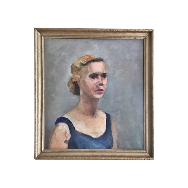 Vintage Portrait of a Blue Blooded Lady - Image 1 of 4