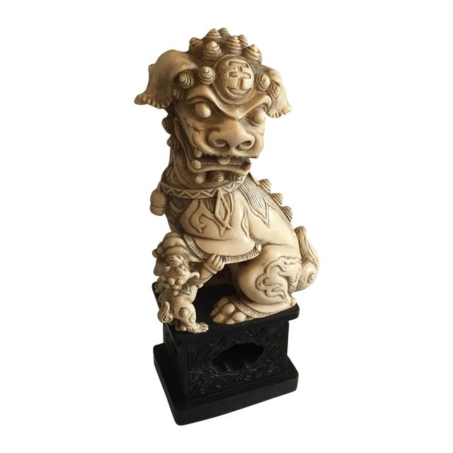 Carved Chinoiserie Foo Dog - Image 1 of 5