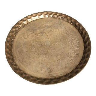 Etched Brass Tray / Wall Art