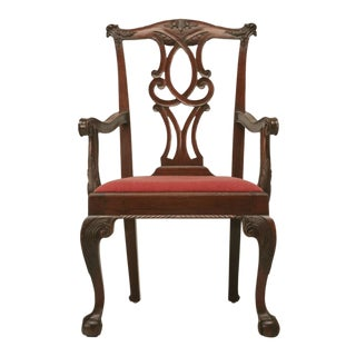 c.1780-1810 Irish Chippendale Walnut Armchair