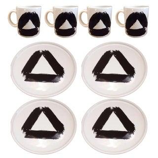 Waechtersbach Pottery Mugs & Plates - S/8