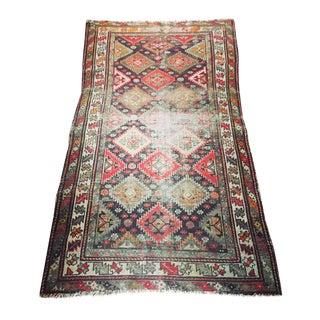 """Vintage Persian Worn Rug - 6'5"""" X 3'8"""""""