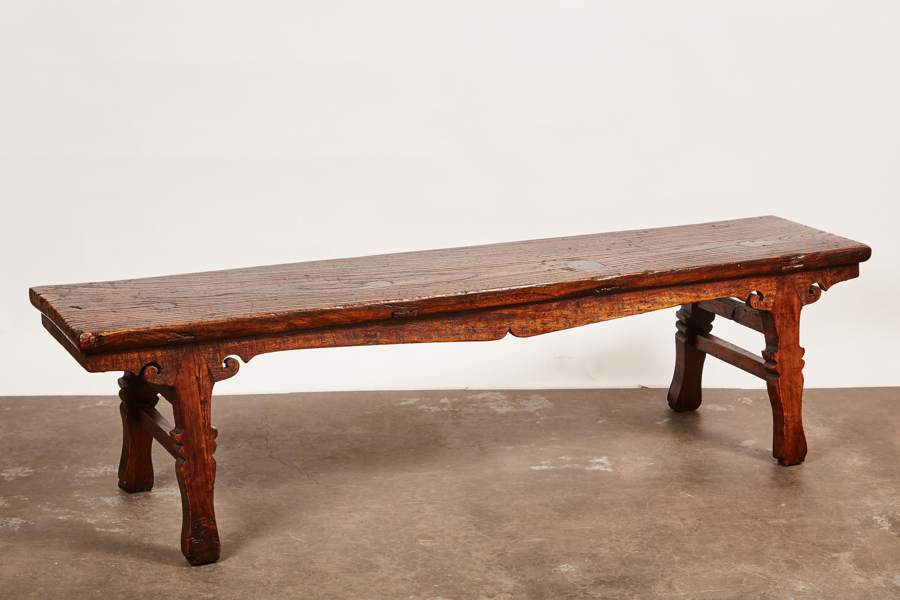 18th Century Chinese Low Sword Leg Bench/Table   Image 2 Of 8